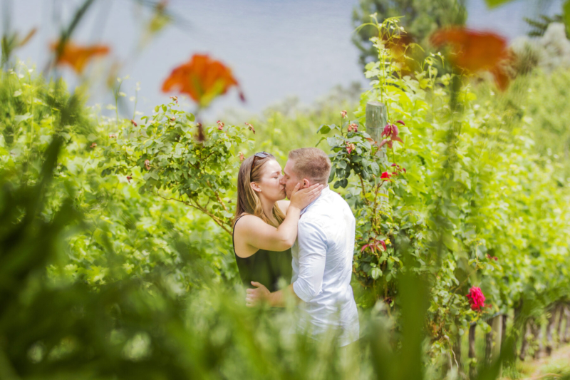 Evolve Cellars Summerland Engagement Photos  – Candace and Tom